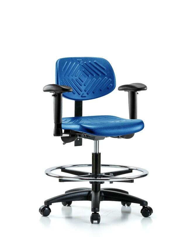 FisherbrandPolyurethane Chair - Medium Bench Height with Seat Tilt, Adjustable