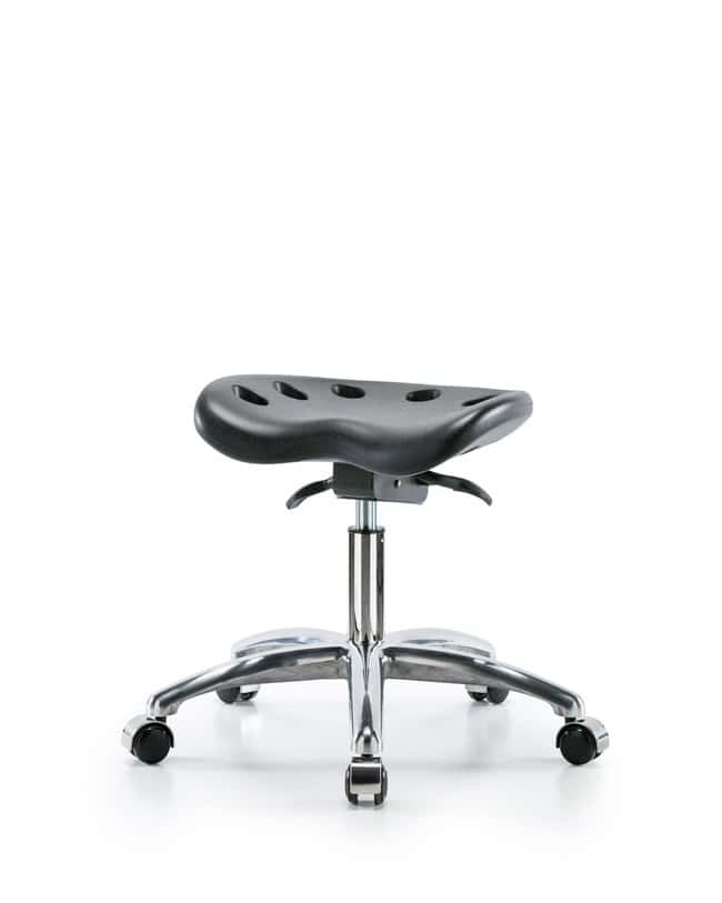 FisherbrandPolyurethane Tractor Sit-Stand Stool Chrome - Desk Height with