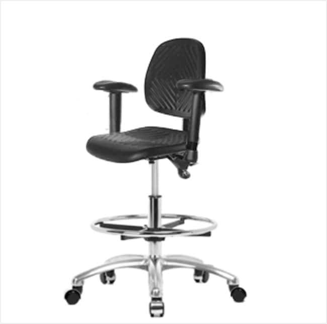 FisherbrandPolyurethane Chair Chrome - Medium Bench Height with Medium