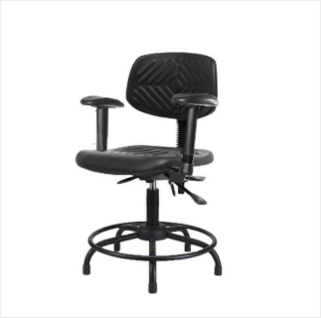 FisherbrandPolyurethane Chair Round Tube Base - Desk Height with Adjustable