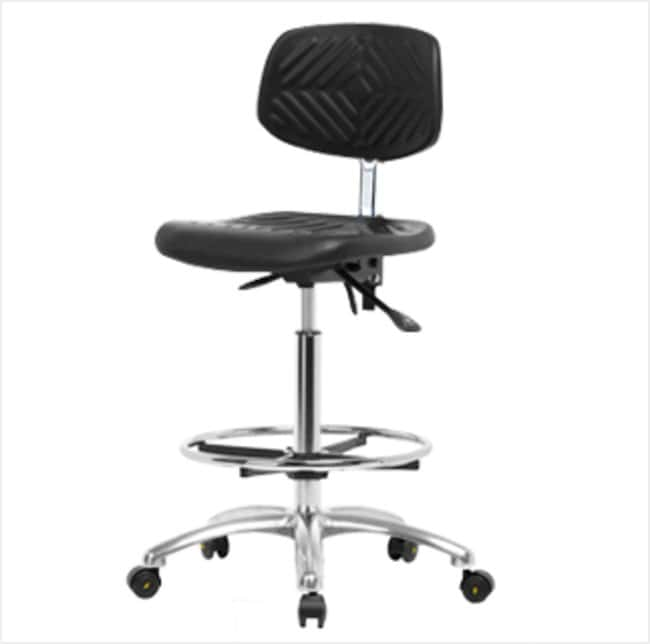 FisherbrandPolyurethane ESD Chair - High Bench Height with Chrome Foot