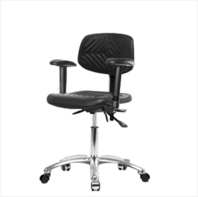 FisherbrandPolyurethane Chair Chrome - Desk Height with Adjustable Arms