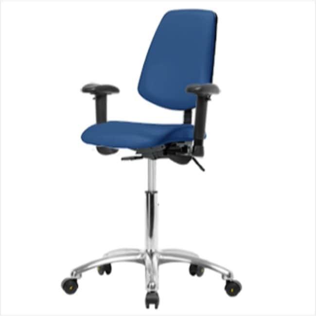 FisherbrandVinyl ESD Chair - Desk Height with Medium Back, Adjustable Arms,