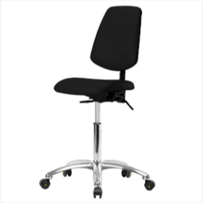 Fisherbrand Desk Height Black Vinyl ESD Chair with Medium Back :Furniture,