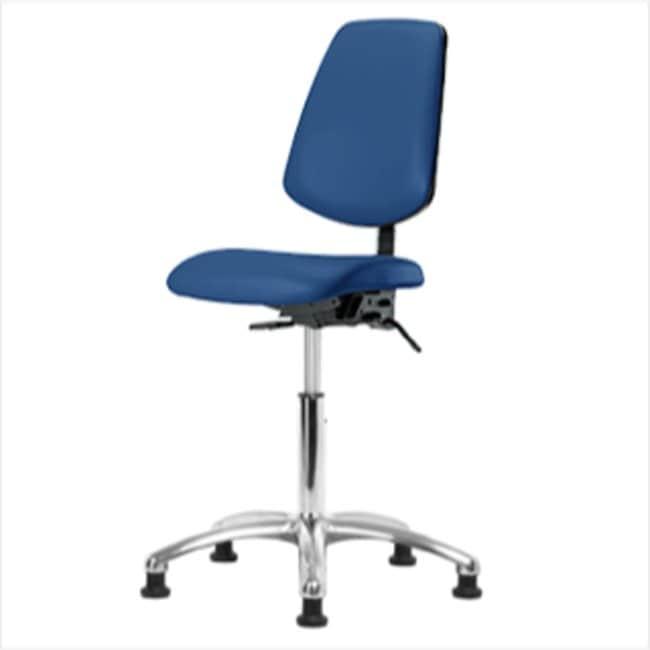 Fisherbrand Medium Bench Height Blue Vinyl ESD Chair with Medium Back :Furniture,