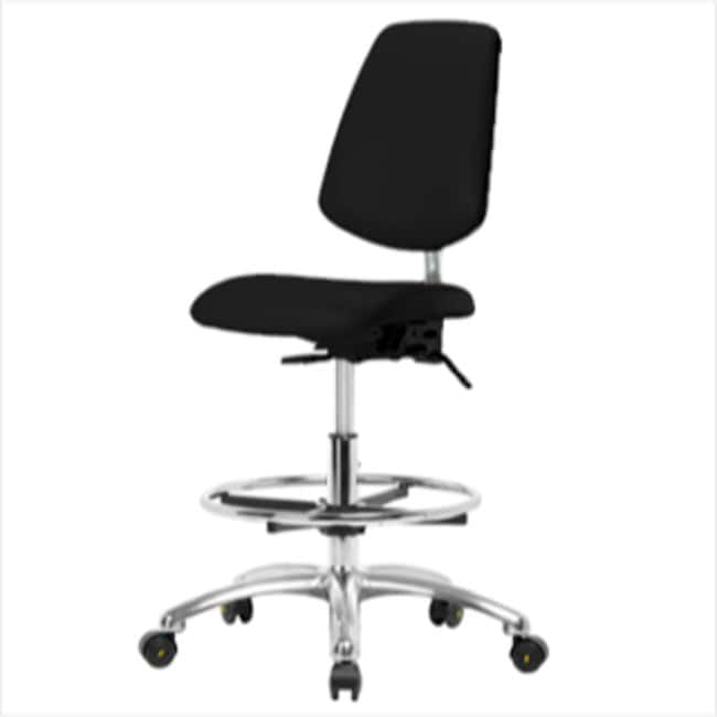 Fisherbrand High Bench Height Class 100 Black Clean Room/ESD Chair with
