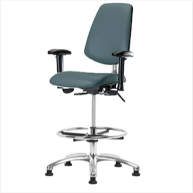 Fisherbrand High Bench Height Class 100 Clean Room Chair with Chrome Foot