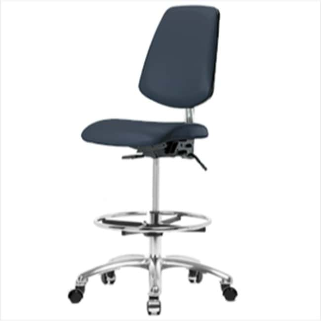 Fisherbrand High Bench Height Class 100 Clean Room Chair with Medium Back