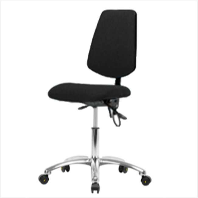 Fisherbrand Black Fabric ESD Chair with Medium Back, Desk Height :Furniture,
