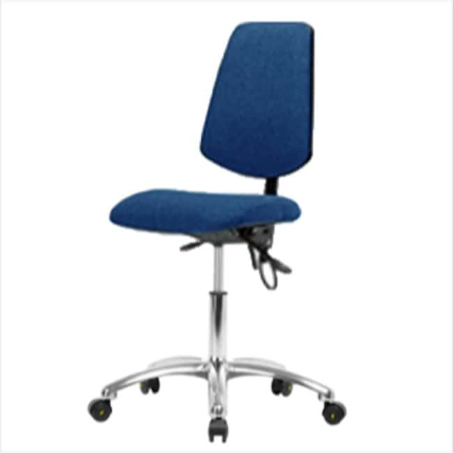 Fisherbrand Desk Height Blue Fabric ESD Chair with Medium Back :Furniture,