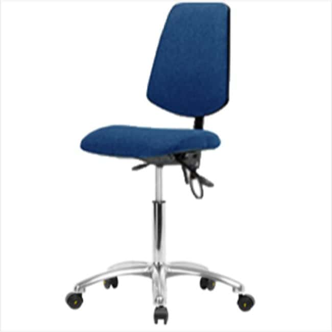 Fisherbrand Medium Bench Height Blue Fabric ESD Chair with Medium Back