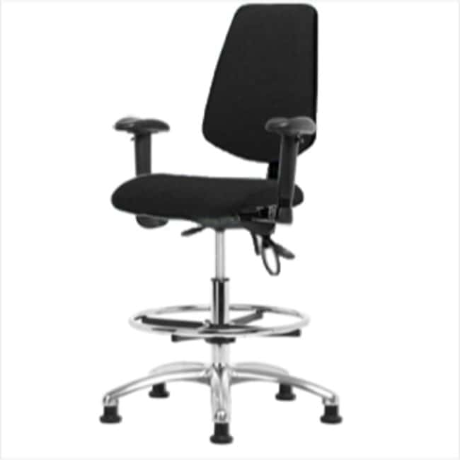 Fisherbrand Medium Bench Height ESD Chair with Medium Back and Chrome Foot