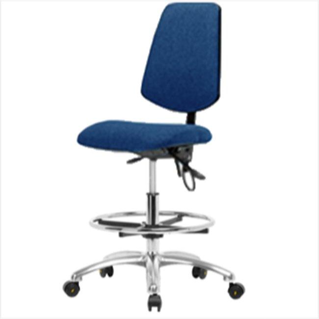 FisherbrandFabric ESD Chair - Medium Bench Height with Medium Back, Seat
