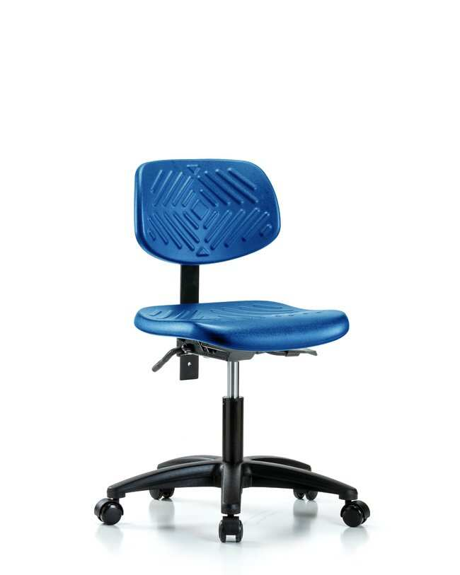 Fisherbrand Desk Height Blue Polyurethane Chair, Standard Back :Furniture,