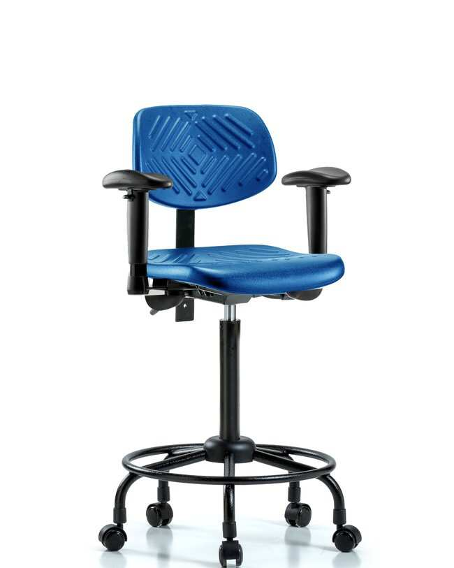 Fisherbrand High Bench Height Blue Polyurethane Round-Tube Base Chair :Furniture,