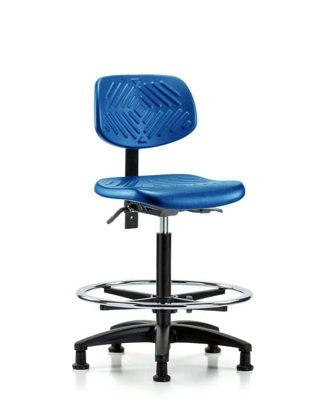 FisherbrandPolyurethane Chair - High Bench Height with Seat Tilt, Chrome
