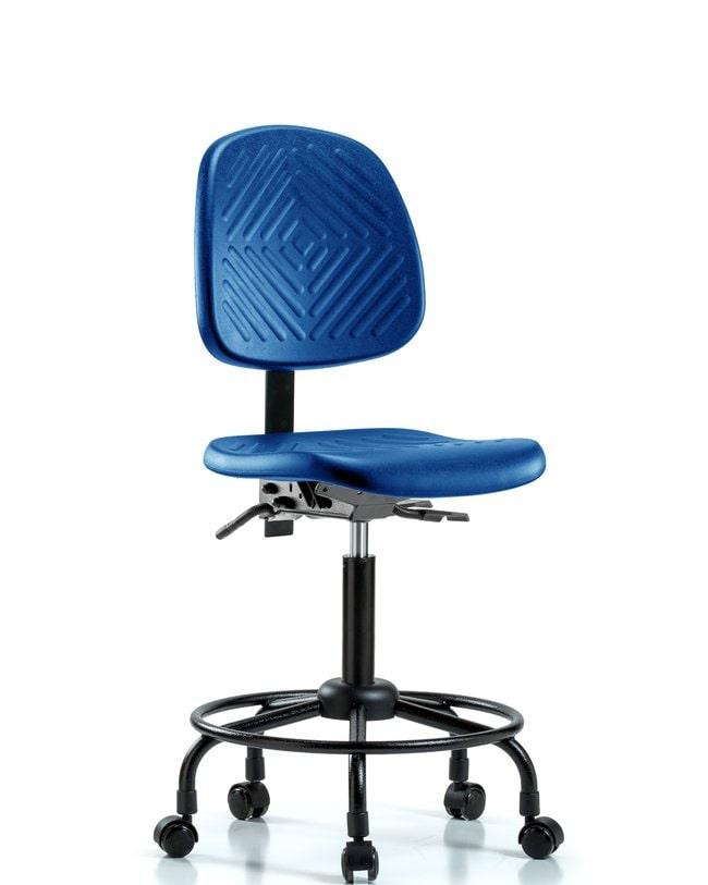 Fisherbrand Medium Bench Height Blue Polyurethane Round-Tube Base Chair,