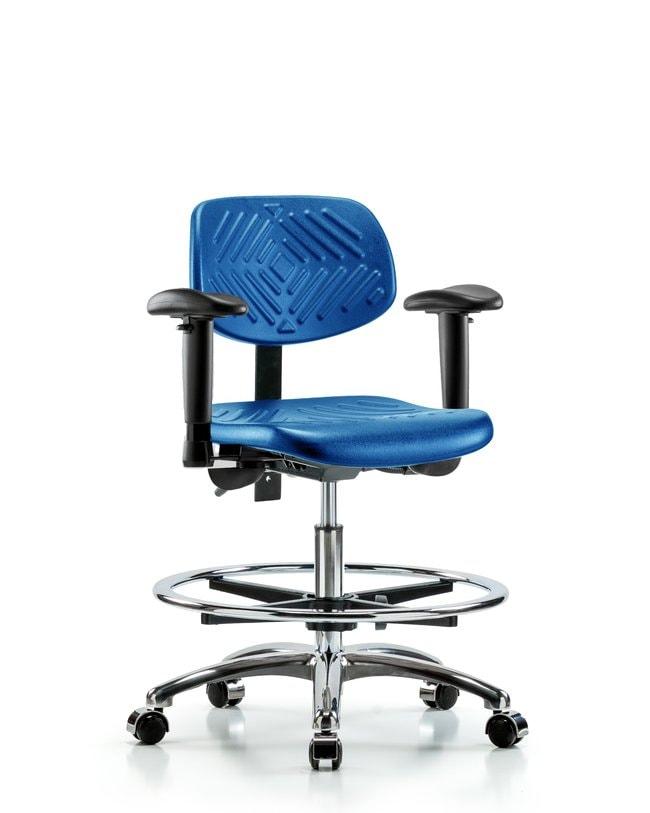 FisherbrandPolyurethane Chair Chrome - Medium Bench Height with Adjustable