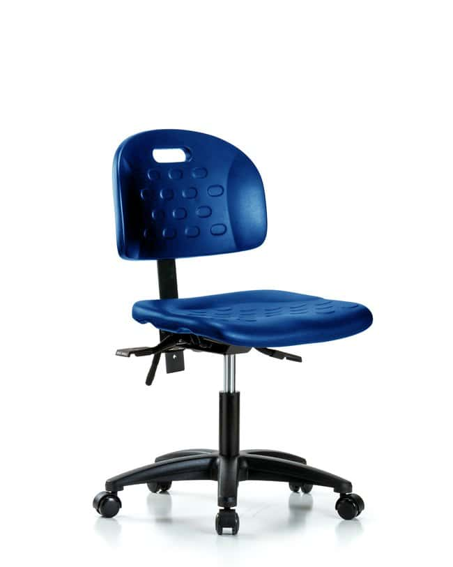 Fisherbrand Desk Height Industrial Blue Polyurethane Chair :Furniture,