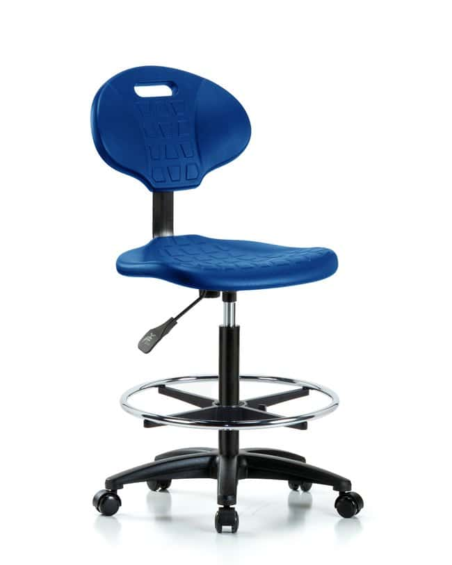 Fisherbrand High Bench Height Core Industrial Blue Polyurethane Chair :Furniture,