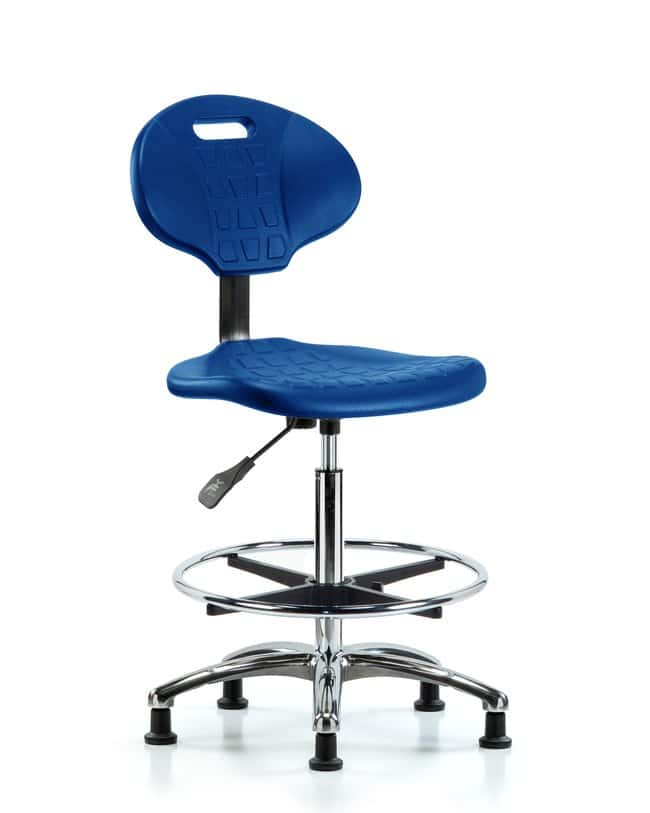 Fisherbrand High Bench Height Core Industrial Blue Polyurethane Chrome