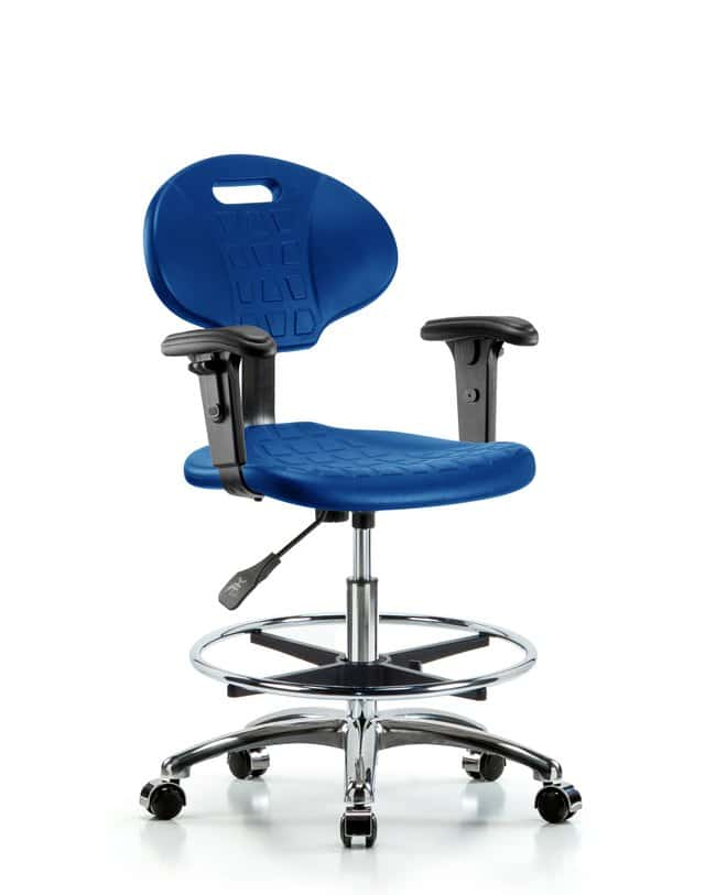 Fisherbrand Medium Bench Height Core Industrial Blue Polyurethane Chair