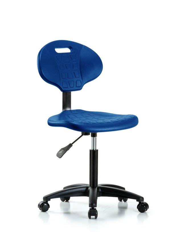 Fisherbrand Medium Bench Height Core Industrial Blue Polyurethane Chair