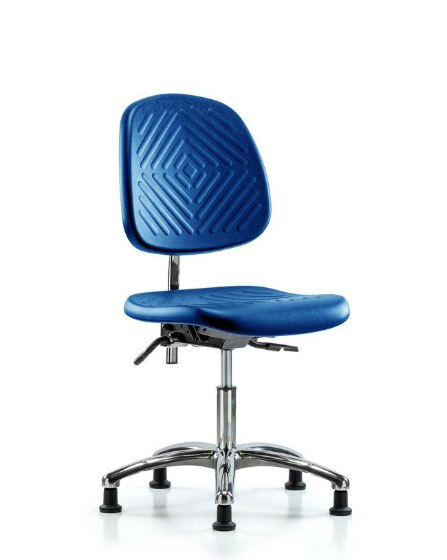 Fisherbrand Desk Height Class 10 Blue Polyurethane Clean Room Chair, Medium