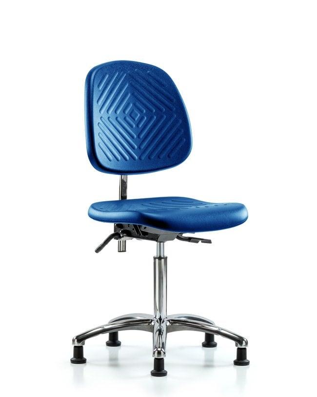Fisherbrand Medium Bench Height Class 10 Blue Polyurethane Clean Room Chair,