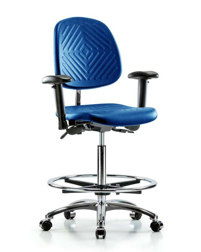 Fisherbrand High Bench Height Class 100 Chrome and Polyurethane Blue Clean