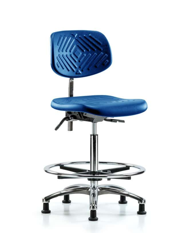 Fisherbrand High Bench Height Class 10 Blue Polyurethane Clean Room Chair