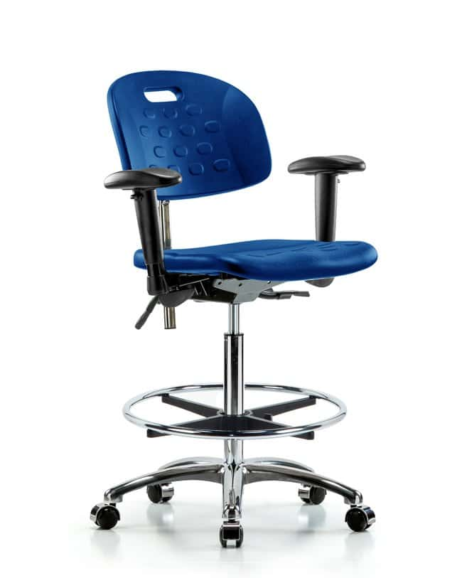 FisherbrandClass 100 Newport Industrial Poly Clean Room Chair - High Bench