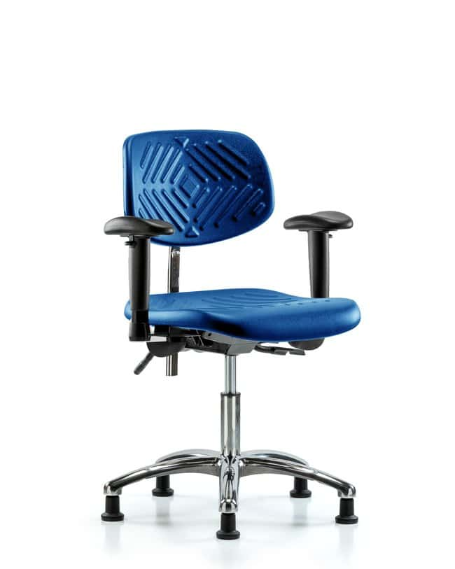 Fisherbrand Desk Height Class 100 Chrome and Polyurethane Blue Clean Room