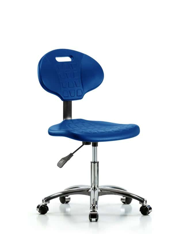 FisherbrandErie Polyurethane Chair Chrome - Desk Height with Chrome Casters