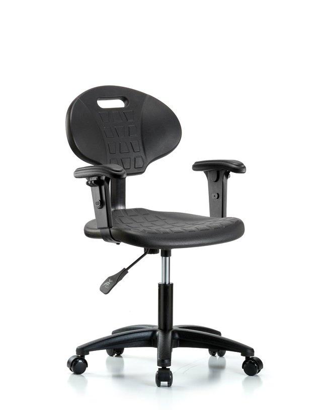 FisherbrandErie Polyurethane Chair Chrome - Desk Height with Adjustable