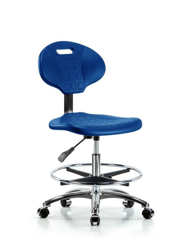 FisherbrandErie Polyurethane Chair Chrome - Medium Bench Height with Chrome