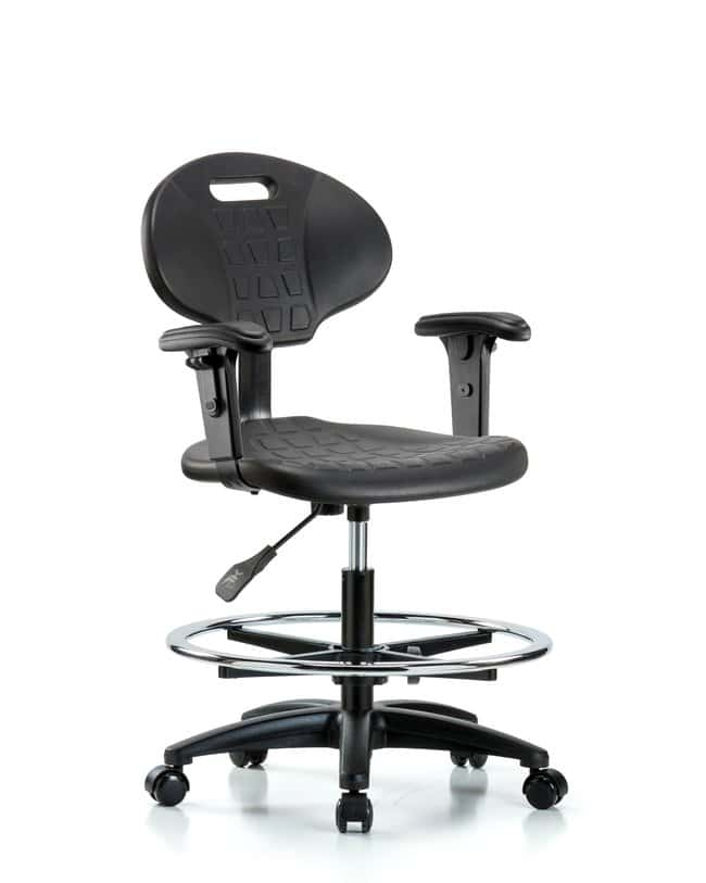 Fisherbrand Erie Polyurethane Chair - Medium Bench Height with Chrome Foot