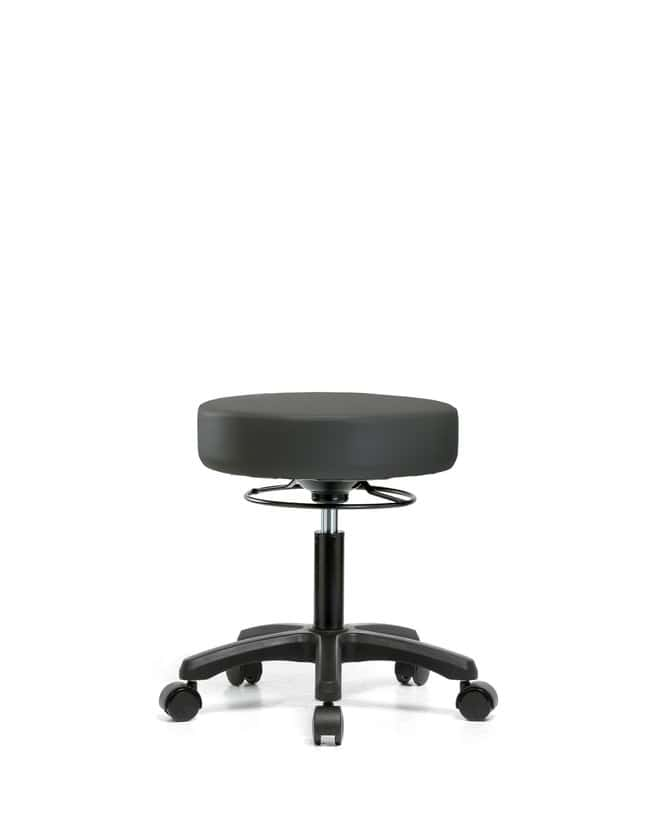 Fisherbrand Vinyl Mini-Stool - Desk Height with Casters in Grade B Vinyl:Furniture,