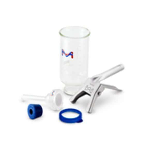 Merck MilliporeClassic Glass Vacuum Filter Holder Kits, 47 mm 47 mm, Glass frit membrane support, 500 mL funnel Merck MilliporeClassic Glass Vacuum Filter Holder Kits, 47 mm