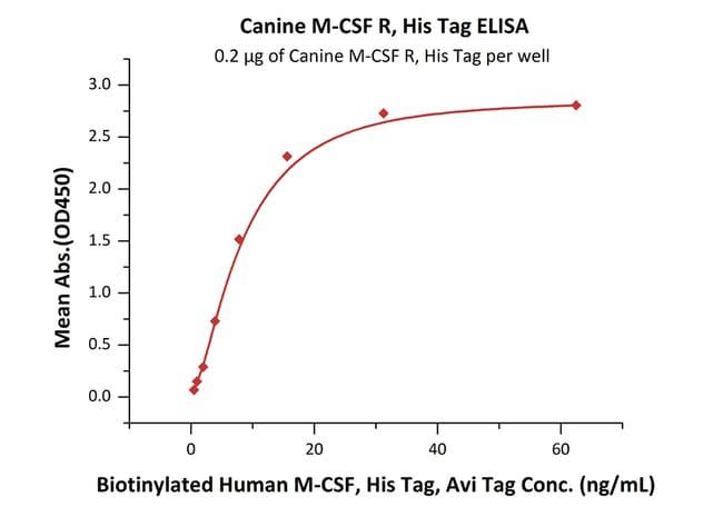 ACROBiosystems100ug Canine M-CSF R / CSF1R / CD115 Protein, HisTag  Produkte