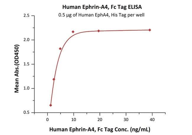ACROBiosystemsHuman Ephrin-A4 / EFNA4 Protein, Fc Tag 250 ug ACROBiosystemsHuman Ephrin-A4 / EFNA4 Protein, Fc Tag