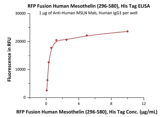 ACROBiosystems25ug RFPFusionHumanMesothelin/MSLN(296- 580)Protein,HisTag(SPR verified)  Produkte