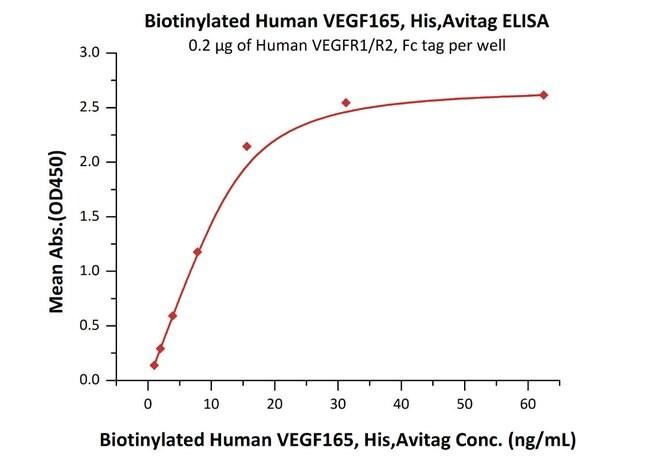 ACROBiosystemsBiotinylated Human VEGF165 Protein, His, Avitag™ 25 ug ACROBiosystemsBiotinylated Human VEGF165 Protein, His, Avitag™