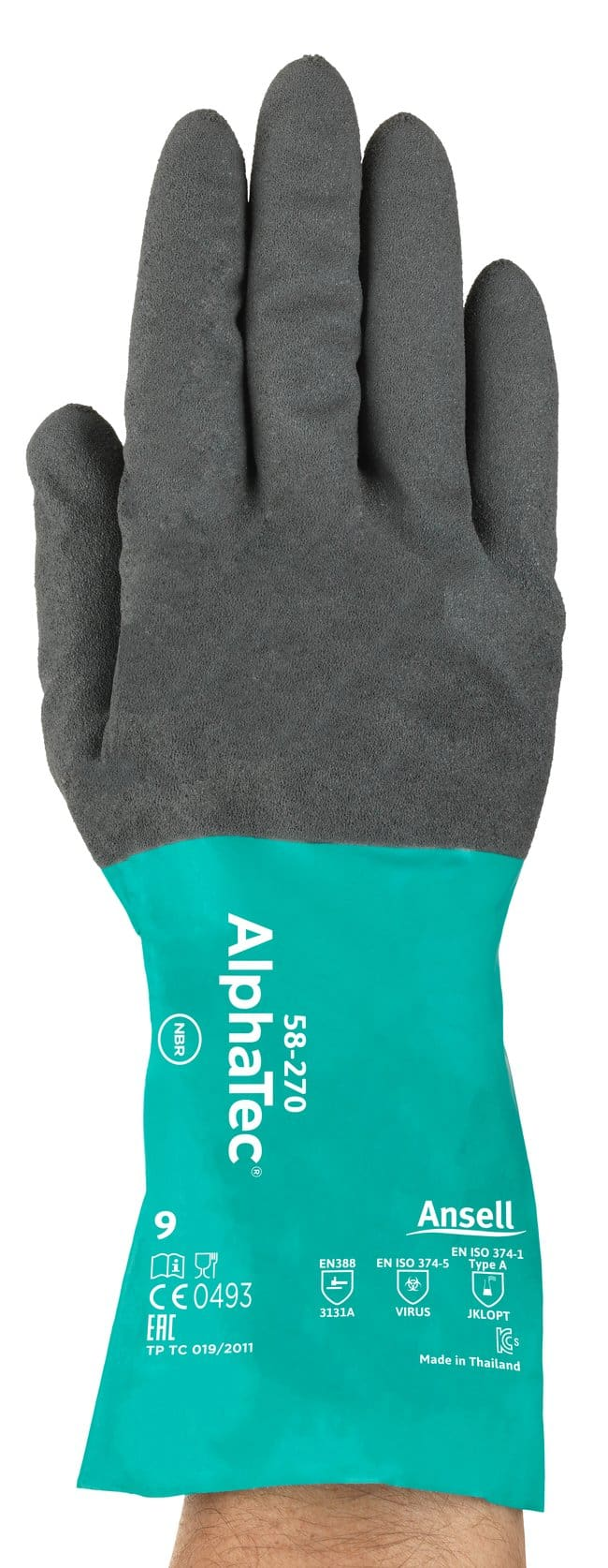 Ansell Edmont™ AlphaTec™ 57-270 Series Nitrile Immersion Gloves Size: 6 Products