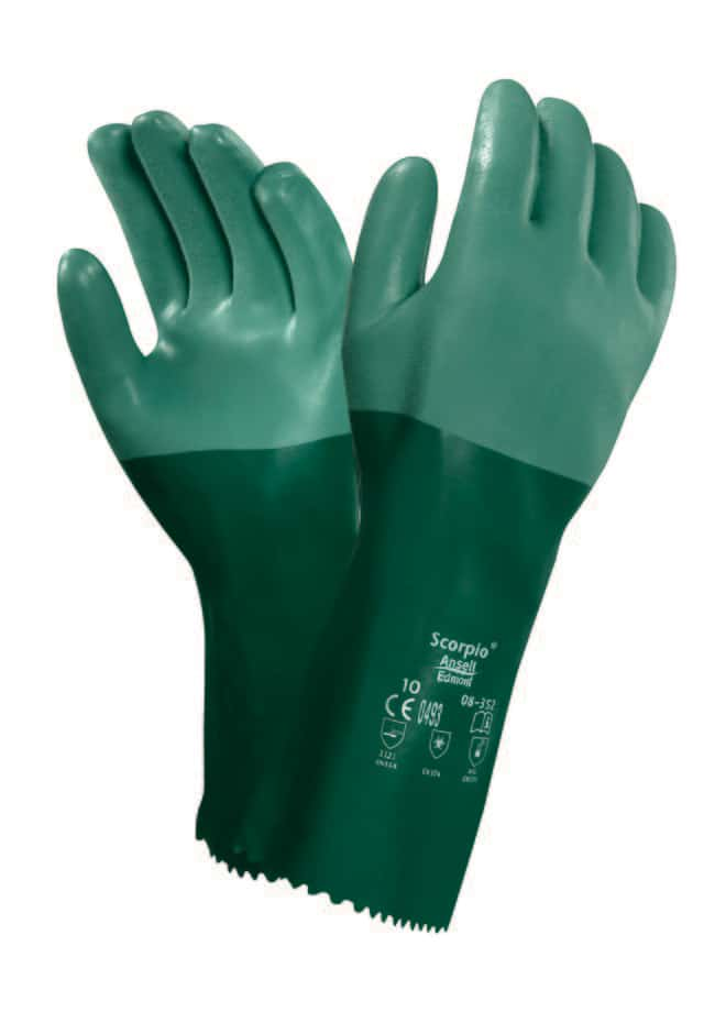Ansell™ Scorpio™ 8-354 Series Green Neoprene Immersion Gloves Size: 10 products