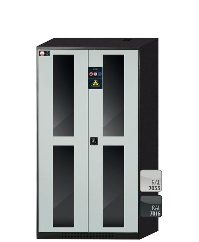 asecos™CS-CLASSIC-G Chemikalienschrank mit 2 hellgrauen Türen: Sicherheitsschränke Abzugshauben und Sicherheitsschränke