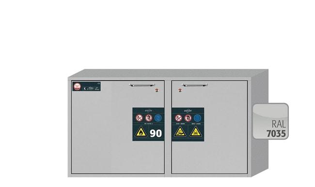 Asecos™K-UB-90-Kombinations-Untertischschränke für die sichere Lagerung 1 wing door; 1x 10 L drawer Asecos™K-UB-90-Kombinations-Untertischschränke für die sichere Lagerung