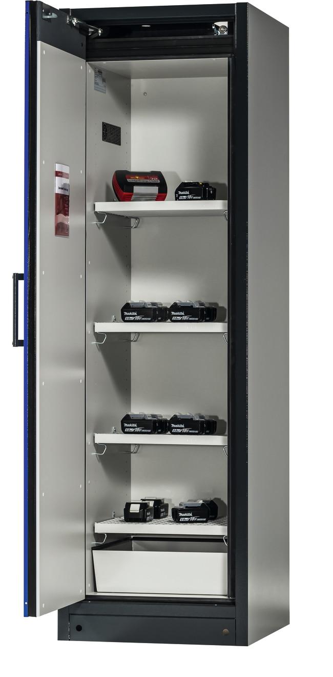 Asecos™Armoire de stockage BATTERY STORE ION-CLASSIC-90 Nombre de portes: 1, Nombre d'étagères: 4 Asecos™Armoire de stockage BATTERY STORE ION-CLASSIC-90