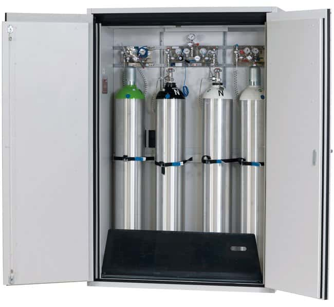 asecos™ Type 90 Gas Cylinder Cabinet G-ULTIMATE-90 Capacity: Up to 4 x 50-litre gas cylinders or 8 x 10-litre gas cylinders, Description: Standard interior equipment gas cylinders asecos™ Type 90 Gas Cylinder Cabinet G-ULTIMATE-90
