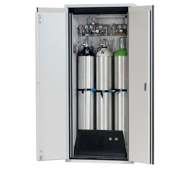 asecos™ Type 90 Gas Cylinder Cabinet G-ULTIMATE-90 Capacity: Up to 3 x 50-litre gas cylinders, Description: Standard interior equipment gas cylinders asecos™ Type 90 Gas Cylinder Cabinet G-ULTIMATE-90